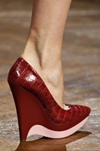 Stella McCartney fall '12 red platform wedge
