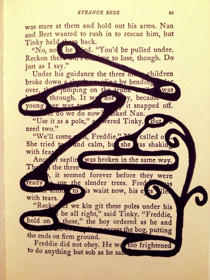 Blackout poetry young love