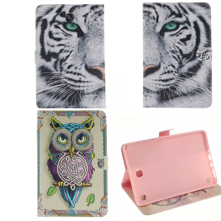 8.49$  Watch now - http://alifux.shopchina.info/go.php?t=32548754447 - TX For Samsung Galaxy Tab A 8.0 T350 T351 SM-T355 case cover 8 inch tablet Tiger Girl Paint PU Leather Stand Protective bags 8.49$ #aliexpressideas