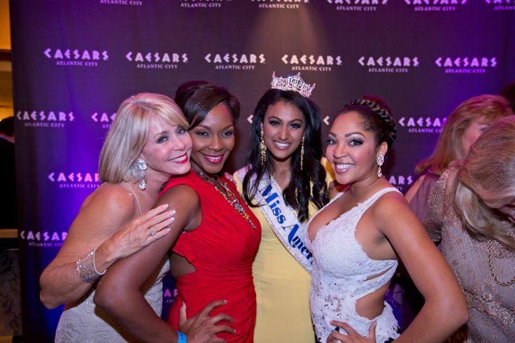 Miss America 1979 Kylene Barker, Miss America 2004 Ericka Dunlap, Miss America 2014 Nina Davuluri, Miss America 2010 Caressa Cameron