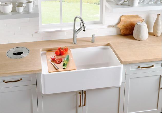 Blanco Profina 36 Single Bowl Farmhouse Apron Sink Biscuit