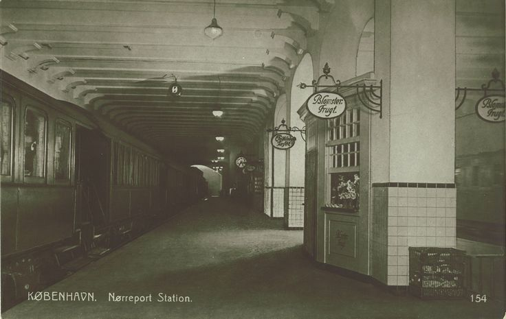 Nørreport underground Train Station, 1926. Special thanks to Simon Bang for sharing it.