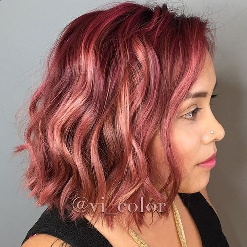Inspired by Pantone's Color of the Year 2015, this rosy marsala hair color by Victoria Pelaez (@vi_color) makes for a gorgeous Hairstyle of the Week!