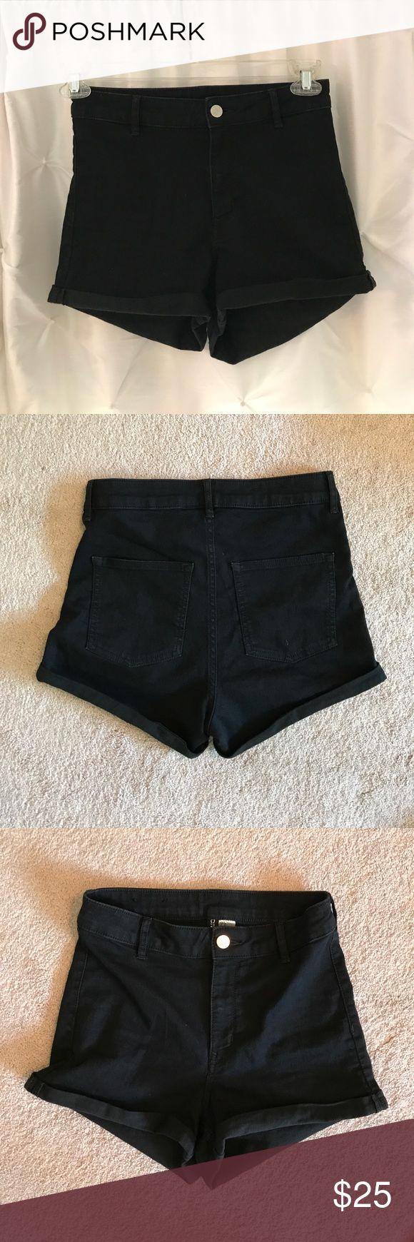 High waisted black jean shorts Super soft jean material, fitted black jean shorts, high waisted. H&M Shorts Jean Shorts