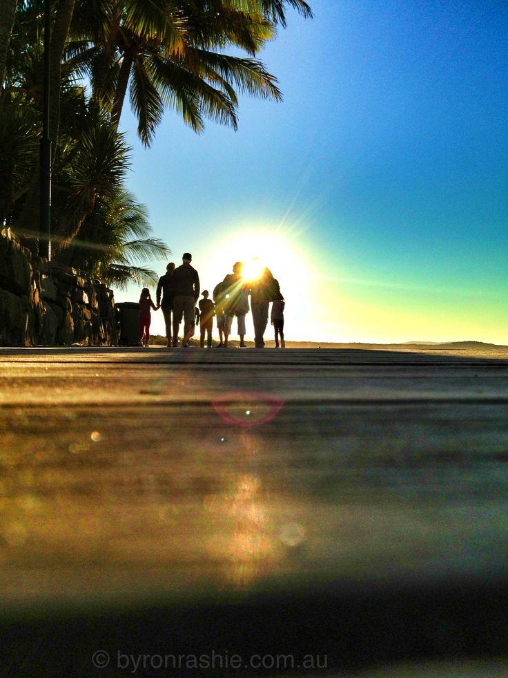 Noosa Heads on the boardwalk at sunset www.byronrashie.com.au