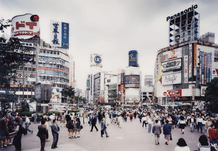 Shibuya Crossing, Tokyo photo by Thomas Struth, 1991 -- I miss this place sometimes.