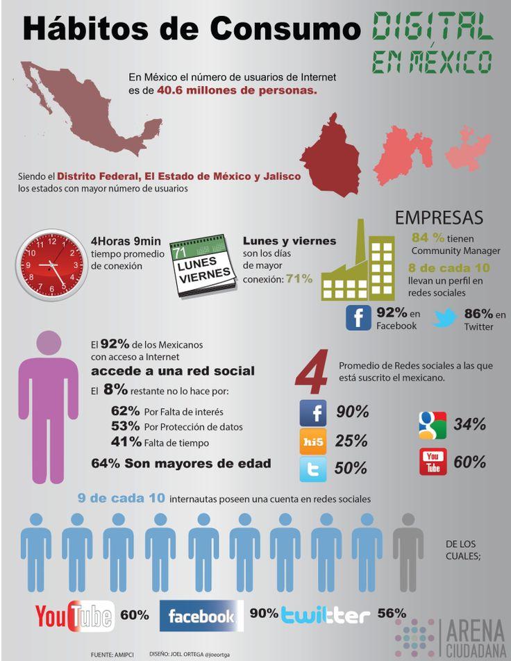 Usos de Internet en México a 2013 según AMIPCI
