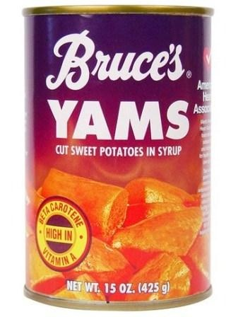 Bruce's Yams located in New Iberia, Louisiana...very good, when you can't get your hands on fresh sweet potatoes!!!  Belinda