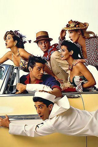 Jennifer Aniston, Courteney Cox, Lisa Kudrow, Matt LeBlanc, Matthew Perry and David Schwimmer; in Friends..