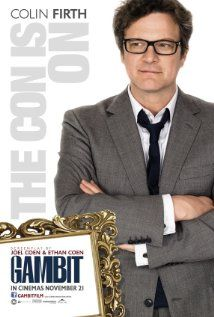 GAMBIT (2012): An art curator decides to seek revenge on his abusive boss by conning him into buying a fake Monet, but his plan requires the help of an eccentric and unpredictable Texas rodeo queen.