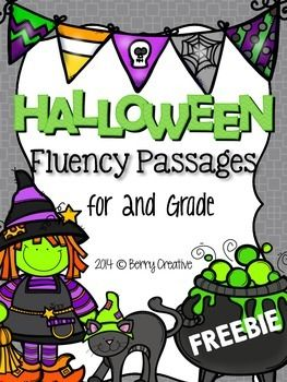 This includes 2 Halloween themed fluency passages.  There are 3 sheets for each passage: A student page that includes a skill to focus on. A teacher page that has the passage for a running record and a rubric for grading. A full sheet passage page for the student to read from during running record.