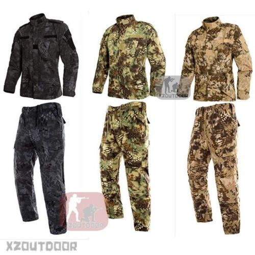 MANDRAKE Military BDU Tactical Uniform Shirt Pants Kryptek Hunting Airsoft