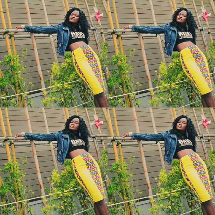 Pencil highwaist with denim,cant go wrong with this.#ankaranewfashion #africanprints #stylmag #streetfashion