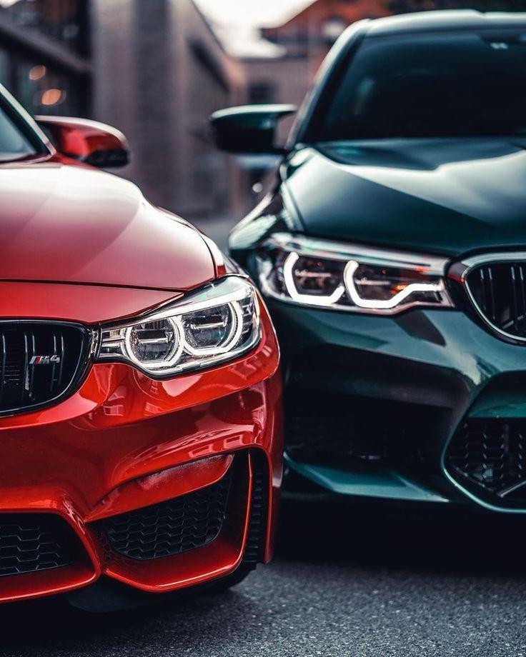 Verdoppeln Sie den Spaß für den doppelten Nervenkitzel. Das #BMW # M4 Coupé und die BMW # M5 Limousine. #BMWrepost @ m4ikeyspikey @ mazo_m4hp4 __________ BMW M4