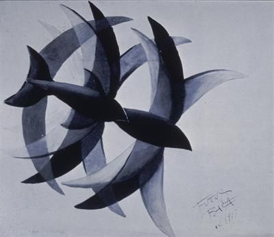 Balla, Giacomo; Flights of Swifts; 1913; Tempera on paper