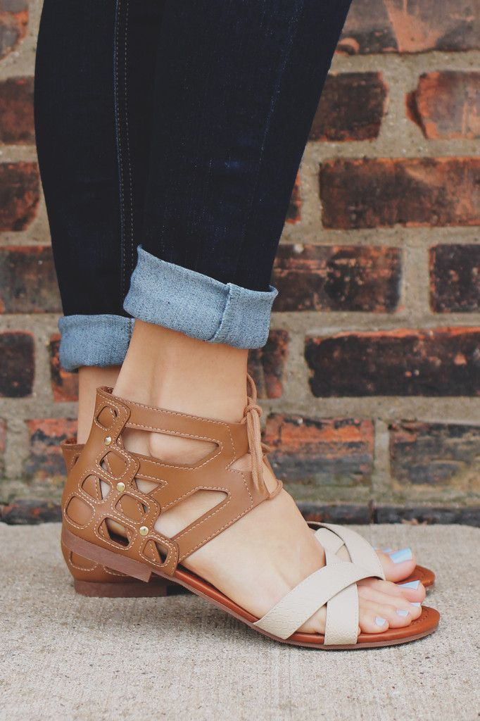 Two Tone Strappy Sandal Wabash-s – UOIOnline.com: Women's Clothing Boutique