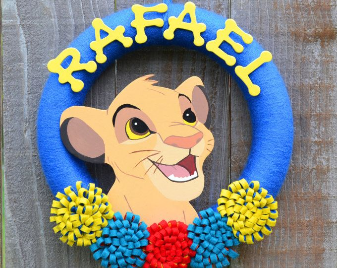 Lion King Simba Wreath Kion Lion Guard Boys Room