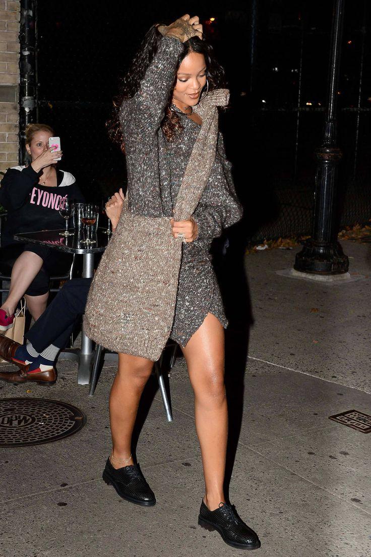 Rihanna Sweater Dress April 2017