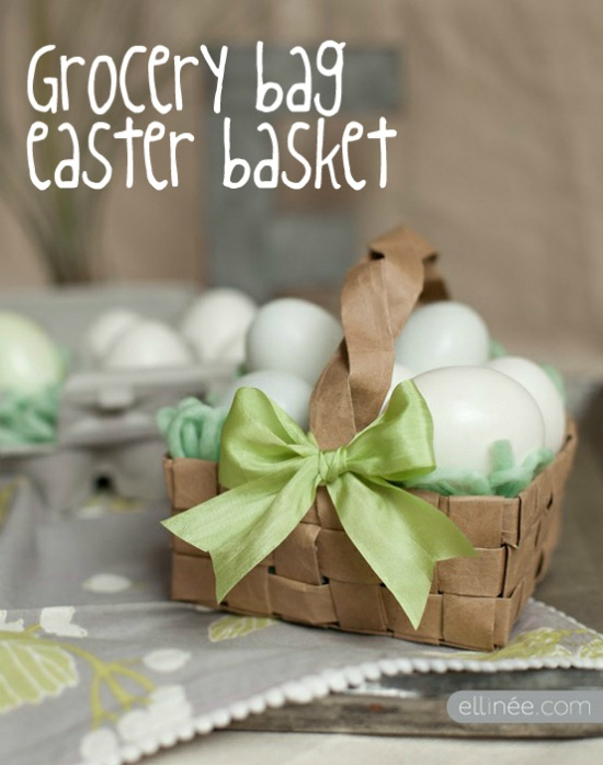 So cute for Easter baskets.: Crafts Ideas, Bags Easter, Paper Bags, Easter Crafts, Grocery Bags, Brown Bags, Bags Baskets, Easter Baskets, Diy