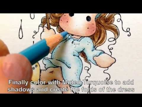 ▶ Coloring Tilda with Prismacolor Pencils - YouTube