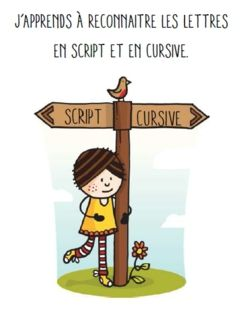 Télécharger « Livret correspondance script cursive.pdf » Pour certains élèves, passer du script (l'écriture...