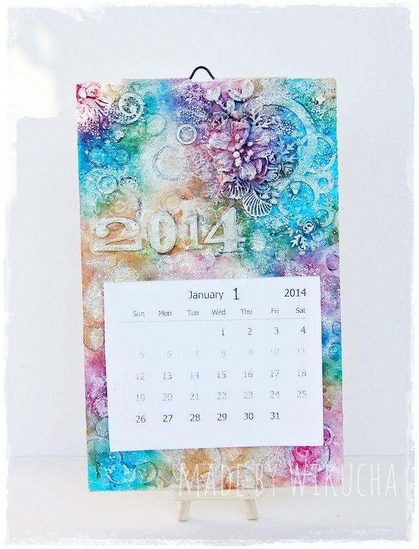 mixed media calendar for 2014