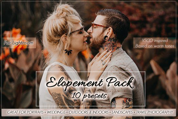 Elopement Preset Pack for Lightroom by FmPhotography on