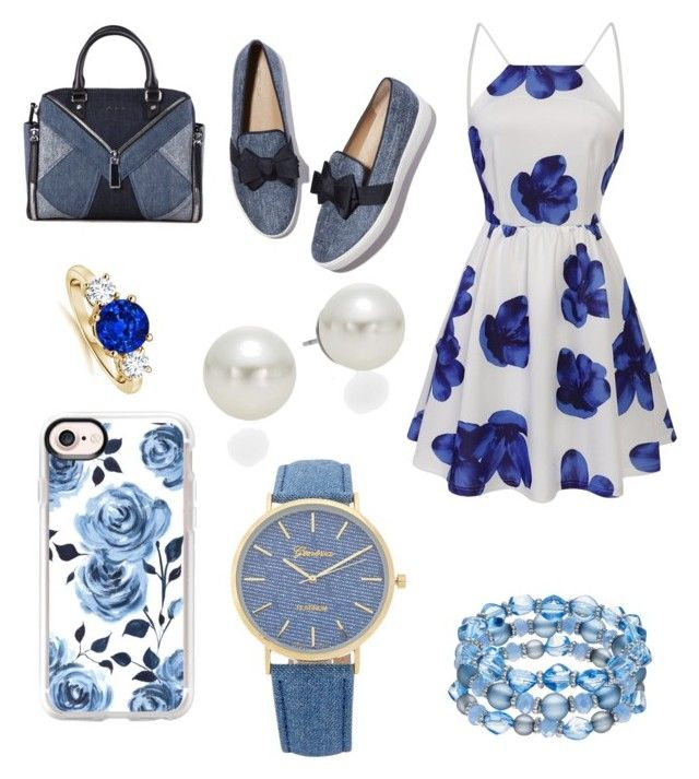"""Blue os the new Black"" by maria-ines-peralta-arevalo on Polyvore featuring moda, Casetify, AK Anne Klein y Diesel"
