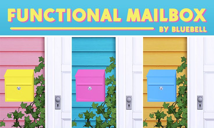 Sims 4 Custom Content Finds - bluebellsims: Functional Mailbox for TS4 ♥ 28...