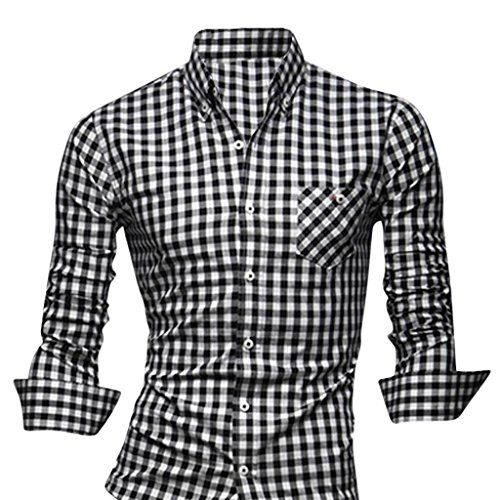 Jeansian Men's Slim Fit Long Sleeves Casual Shirts - Smart Pinner