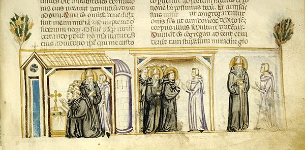 Vitae patrum, MS M.626 fol. 133r - Images from Medieval and Renaissance Manuscripts - The Morgan Library & Museum