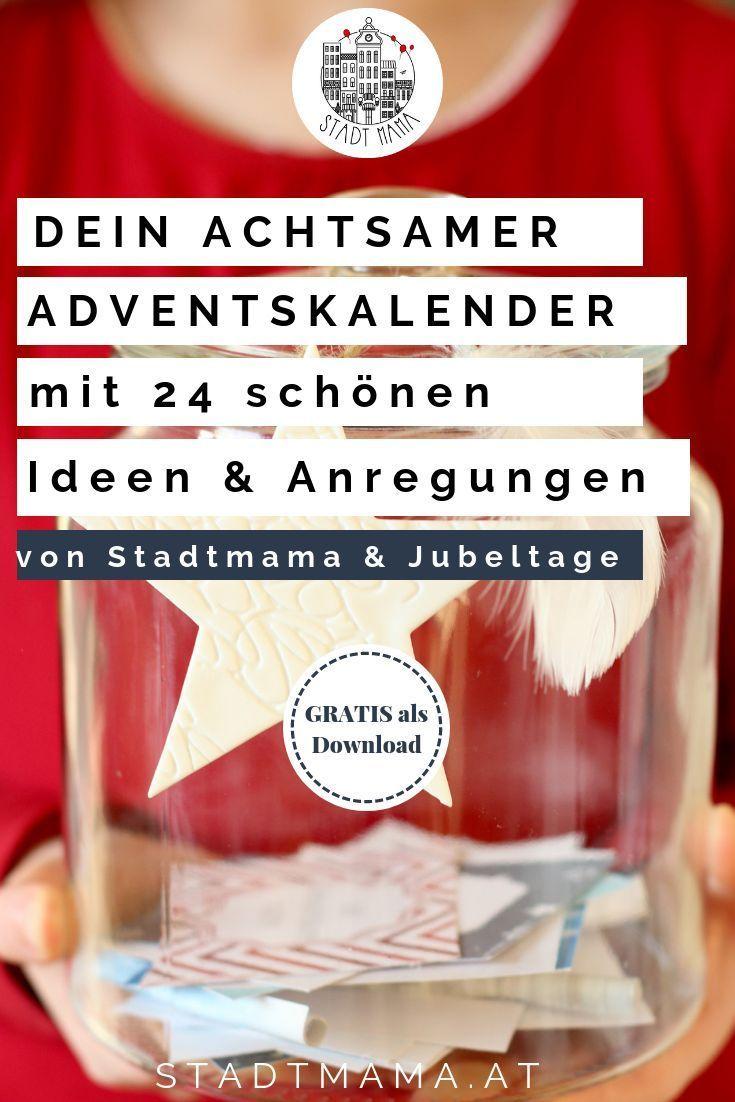 """Holt euch das kostenlose eBook """"Familienzeit im Advent"""" + Adventskalender Freebie"""