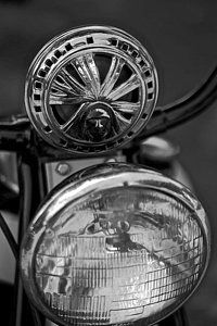 Vintage Motorcycle Photograph - Old Indian Horn by Jason Stanton