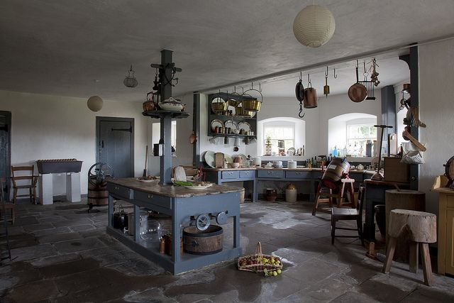 I love this kitchen from a Scottish house which looks as if it has been frozen in time.