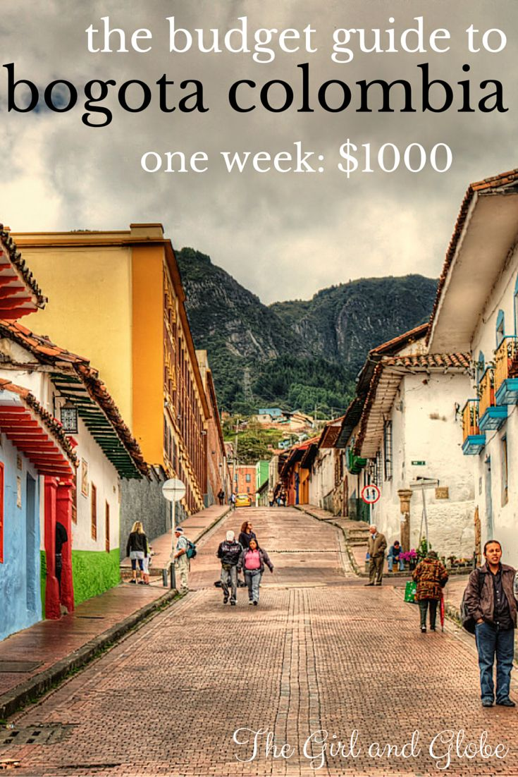 Bogota Colombia is a beautiful city with low costs. Find out what a trip costs and how one traveler visited for one week on $1000, including airfare.  Full post at http://thegirlandglobe.com/bogota-costs/