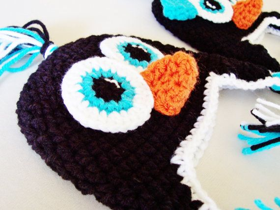 Newborn Baby Penguin Hat with Earflaps by MadeBySvea on Etsy   25 00Newborn Baby Penguin