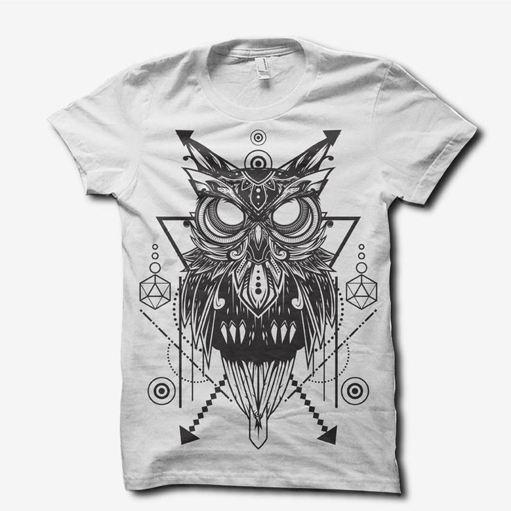 doodle owl ornament T-shirt template