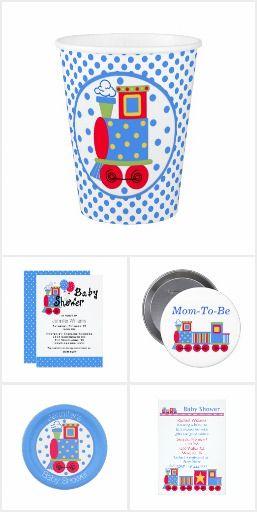 Choo Choo Train Baby Shower Collection