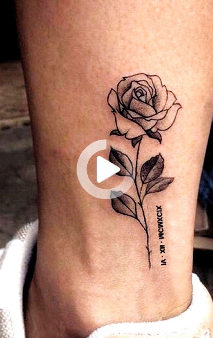 Delicate Small Rose Tattoo Ideas For Ankle Vintage Realistic Leg Tat Www Mybodiart Com Tattoos In 2020 Small Rose Tattoo Rose Tattoos For Women Tiny Rose Tattoos