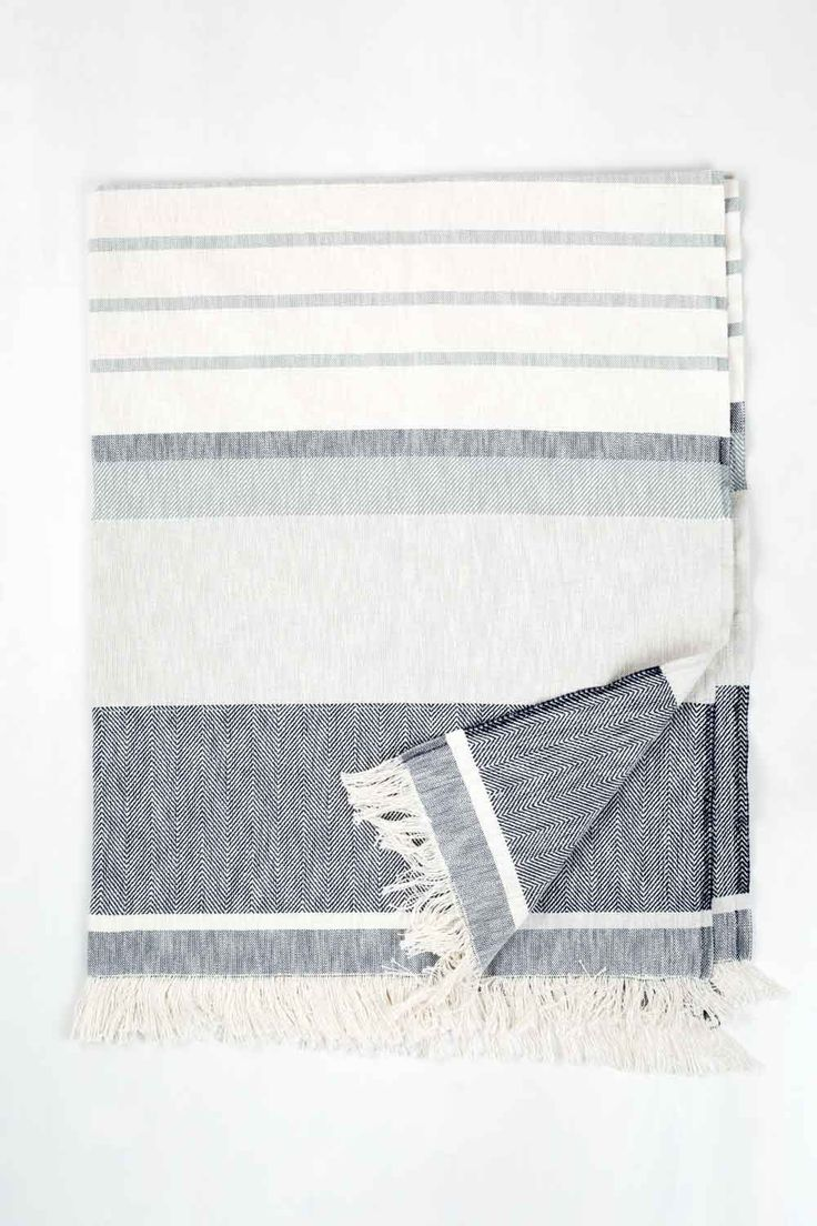 Details This lightweight blanket is the perfect foundation for a day on the beach. A UBB exclusive made from a blend of recycled and conventional cotton, the Allaire Beach Blanket has the durability o