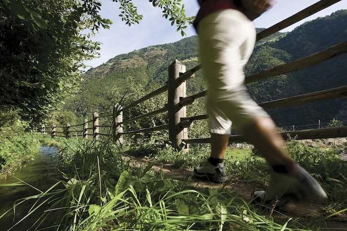 Walking around Certosa in the Senales Valley