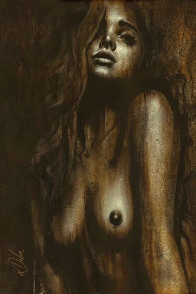 Erotic Nude OIL & ACRYLIC CANVAS Painting ORIGINAL Fine Art By L Dolan 16x24inch