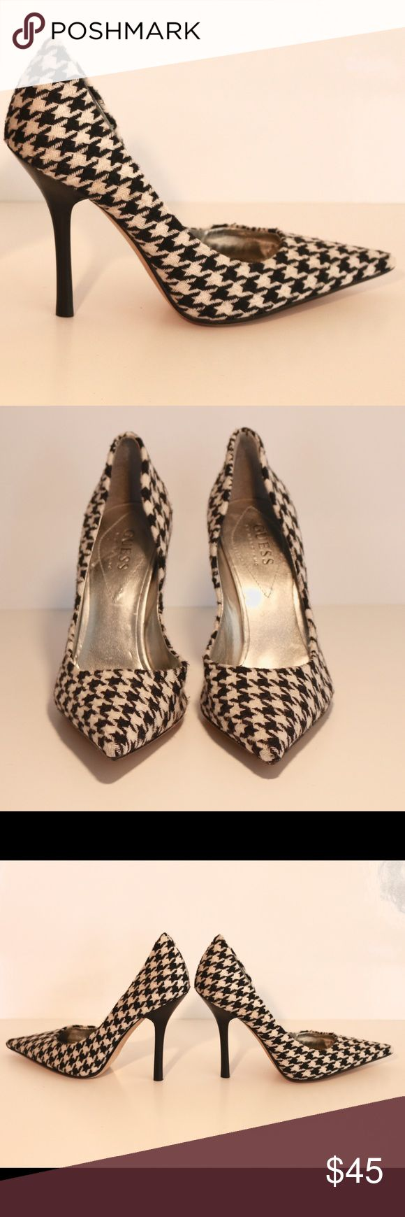 Guess by Marciano Houndstooth Pump New. Multi texture pattern fabric. Leather Sole. Guess by Marciano Shoes Heels