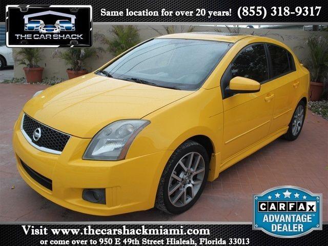 2008 nissan sentra se r spec v 4 door sedan exterior color yellow interior color gray stock. Black Bedroom Furniture Sets. Home Design Ideas