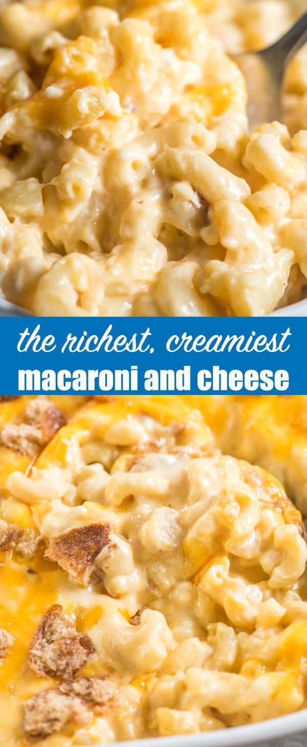 Cottage Cheese Sour Cream And Velveeta Come Together To Make The Richest Creamy Ma Creamy Macaroni And Cheese Cottage Cheese Recipes Cottage Cheese Nutrition
