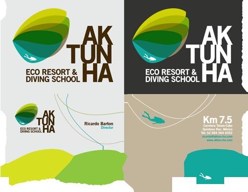 aktunha-logo, frisse kleuren, contrast, strak lettertype, speels
