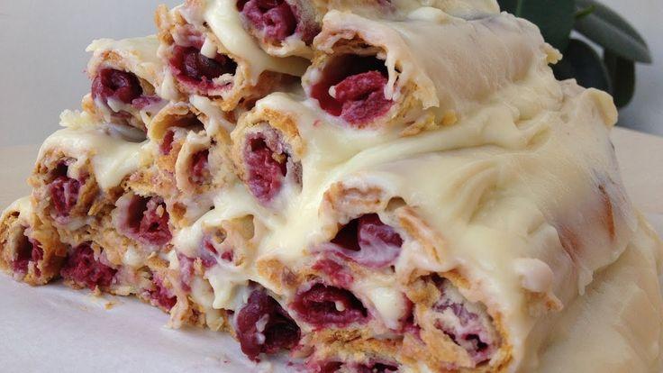 """Торт Монастырская Изба (Избушка)-Легко и Вкусно (Cake with Cherry, """"Izba..."""