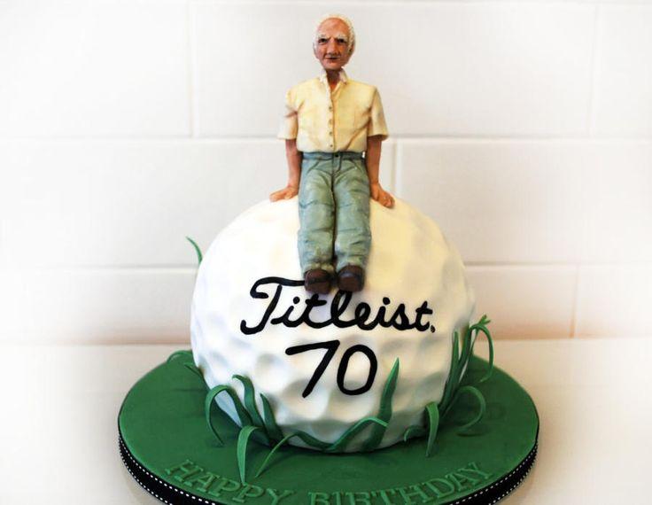 Golf ball 70th - Cake by Danielle Lainton