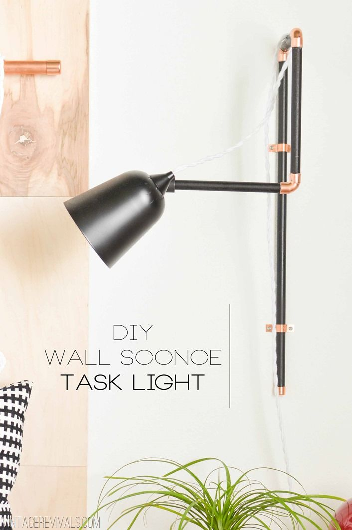DIY Wall Sconce Task Lights (seriously so easy!)