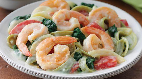 Creamy Shrimp Alfredo Recette Yum Shrimp Food